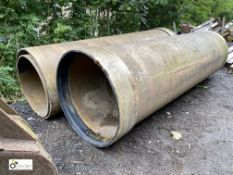 4 various Drainage Pipes, approx. 3120mm max x 900mm max (LOCATION: Woodhead Road)