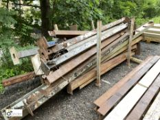 Large quantity Girders/H-Section/Box Section/Columns, etc, to stillage (LOCATION: Woodhead Road)