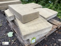 8 various Yorkshire stone Quoin Slabs, to pallet (LOCATION: Woodhead Road)