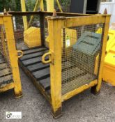 Heavy duty fabricated stackable Stillage, approx. 2075mm x 905mm x 1300mm (LOCATION: Station Lane)