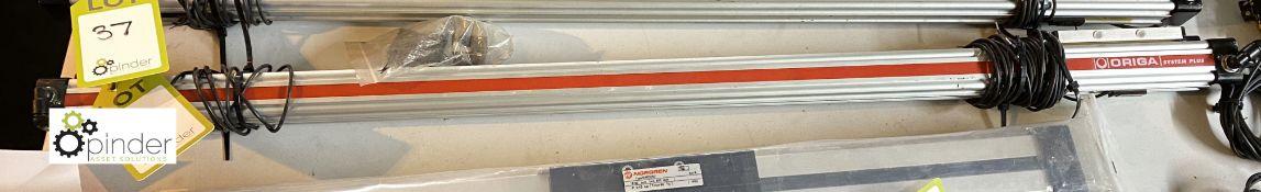 2 Origa System Plus pneumatic Rodless Actuators