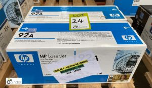 2 HP 92A Print Cartridges, boxed and unused