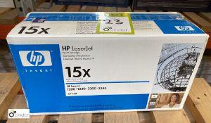 HP 15X Print Cartridge, boxed and unused