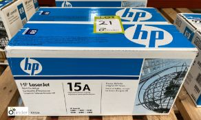 2 HP 15A Print Cartridges, boxed and unused