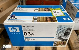 2 HP 03A Print Cartridges, boxed and unused