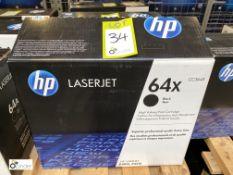 HP 64X Print Cartridge, black, boxed and unused