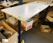 3 steel framed Benches, 2135mm x 760mm x 890mm high