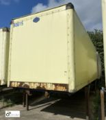 Cartwright Demountable Box, 7550mm x 2550mm, fleet number ARCB0615