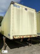 Cartwright Demountable Box, 7550mm x 2550mm, fleet number ARCB0636