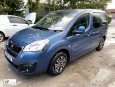 Peugeot Partner Tepee Active B-HDI SS/MPV, registration SC16 XOP, date of registration 25 July 2016,