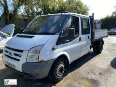 Ford Transit 100 T350L double cab RWD Tipper, registration SC08 SJV, date of registration 24 July