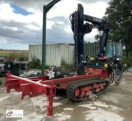 Chassis mounted tracked Hiab 085E-2 Crane, year 2005, serial number 4743, 4000kg max lift, radio