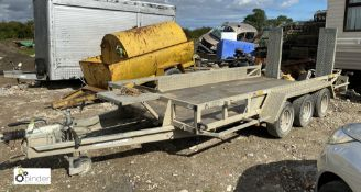 Ifor Williams 3Hb GP146 G3 triple axle Trailer, 3500kg, with fold down ramps, 4300mm x 1800mm