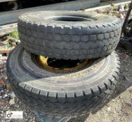 Bridgestone 385/95 R25 tubeless Wagon Tyre and Techking 385/95 R25 tubeless Wagon Tyre with rim