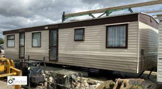 Image Super Static Caravan, 35ft x 12ft x 2B, 2 bedrooms, bathroom, entrance hall, cupboard,