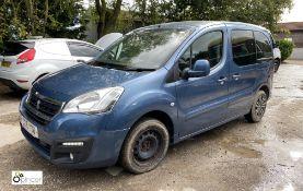 Peugeot Partner Tepee Active B-HDI SS/MPV, registration SC16 XOU, date of registration 25 July 2016,