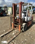 Nissan diesel Forklift Truck, duplex mast, solid tyres, approx 2000kg capacity