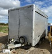 Graham Edwards Trailers triple axle Box Trailer, with 4 shutter doors, 3900mm x 1940mm, gross weight