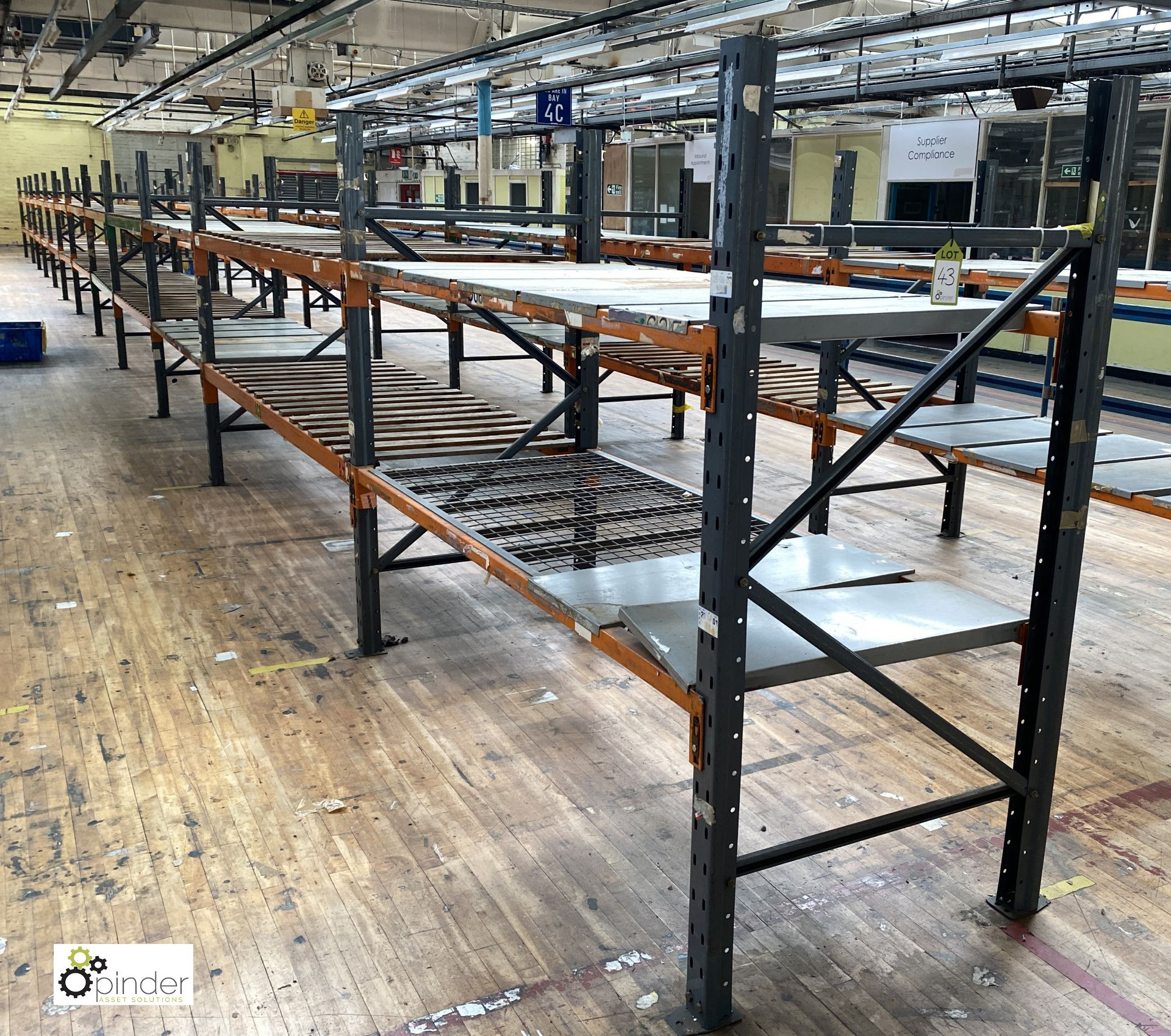 12 bays Dexion Speedlock boltless Racking, comprising 13 uprights 1835mm x 910mm, 48 beams varying - Image 2 of 5