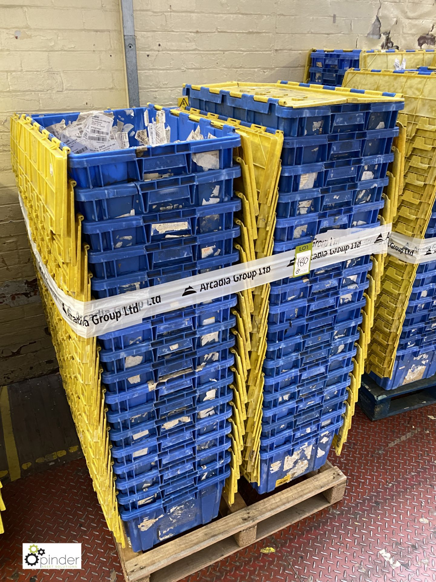 Approx. 64 Buckhorn stackable plastic Storage Containers, 640mm x 380mm x 300mm, with interlocking - Image 4 of 4
