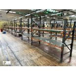 11 bays Dexion Speedlock boltless Racking, comprising 9 uprights 2440mm x 910mm, 3 uprights 1835mm x