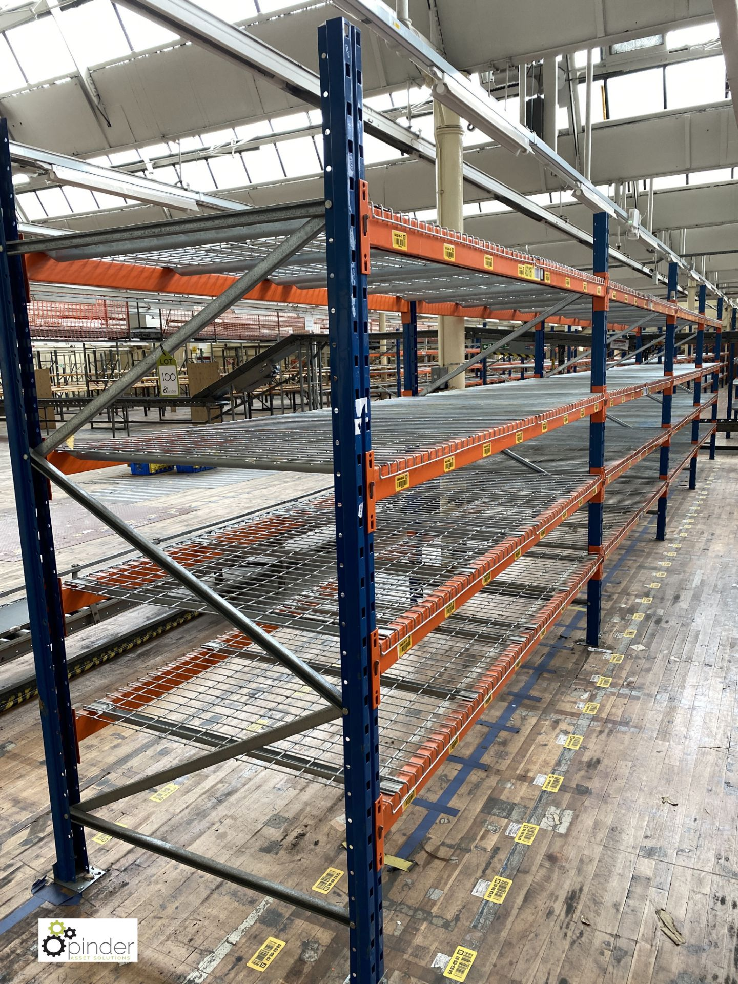 4 bays PSS 2K85 16 boltless Stock Racking, comprising 5 uprights 2400mm x 1200mm, 32 beams 2700mm, - Image 2 of 5