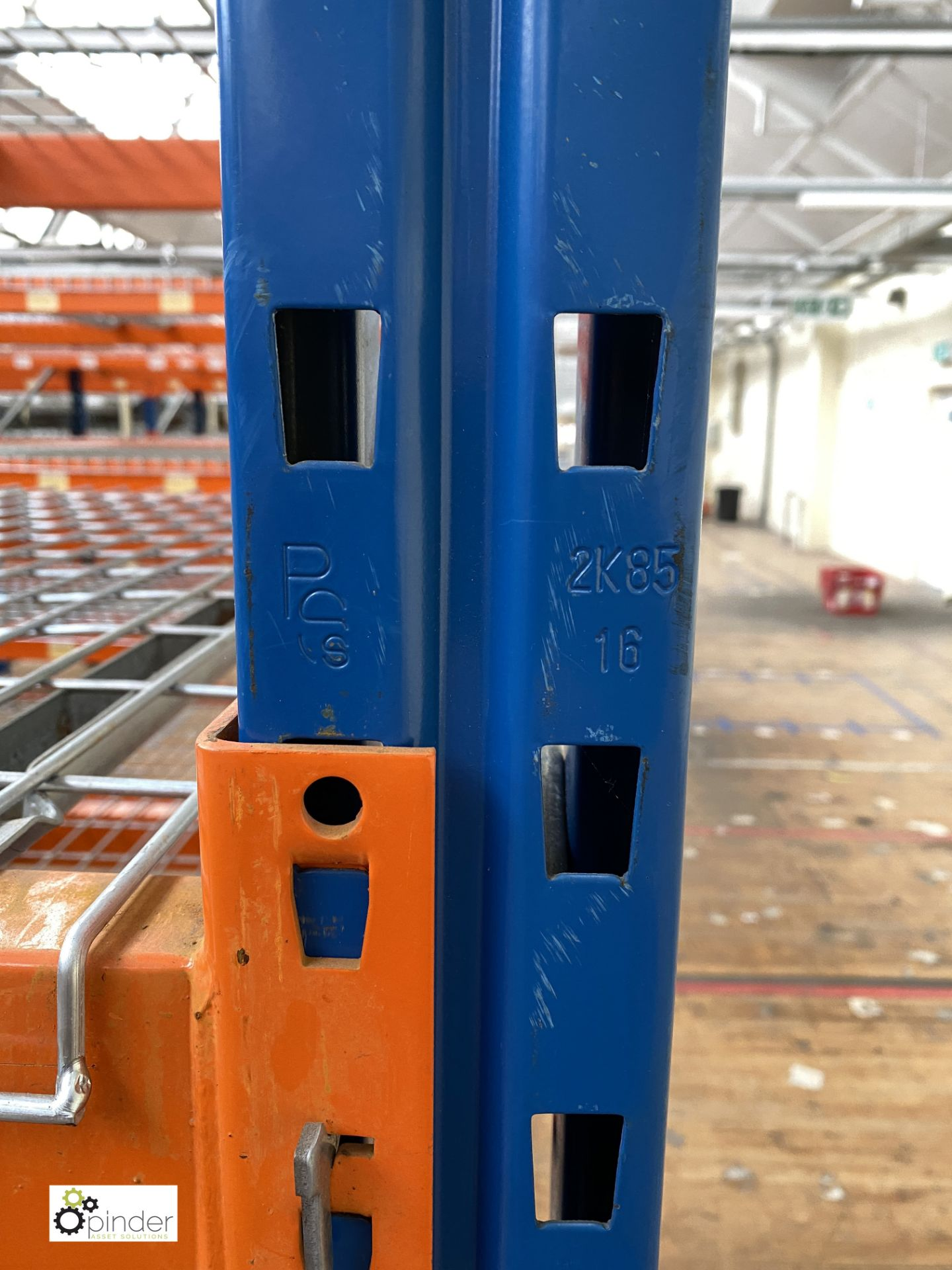 7 bays PSS 2K85 16 boltless Stock Racking, comprising 8 uprights 2400mm x 1200mm, 56 beams 2700mm, - Image 4 of 4