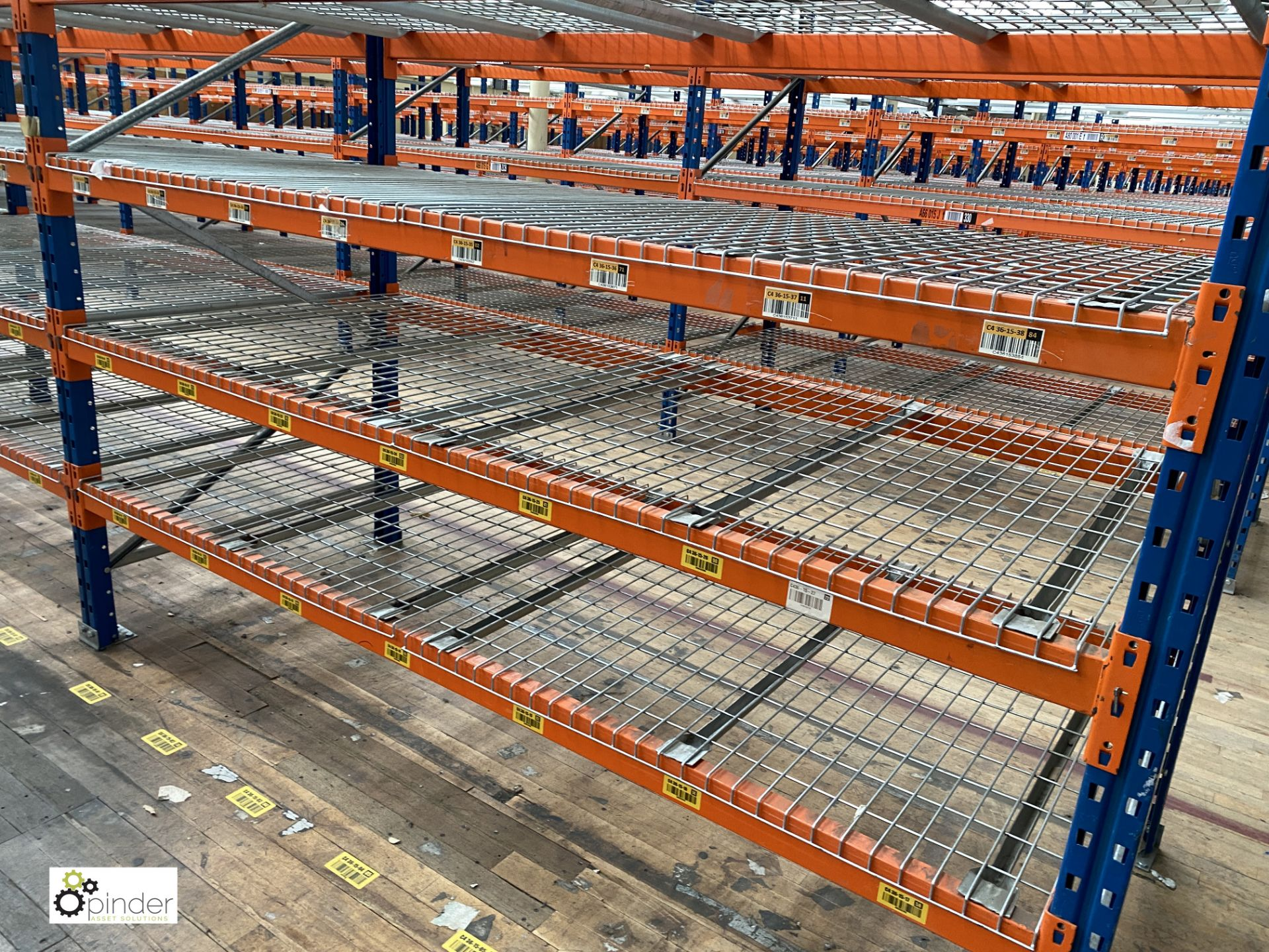 8 bays PSS 2K85 16 boltless Stock Racking, comprising 9 uprights 2400mm x 1200mm, 64 beams 2700mm, - Image 3 of 5