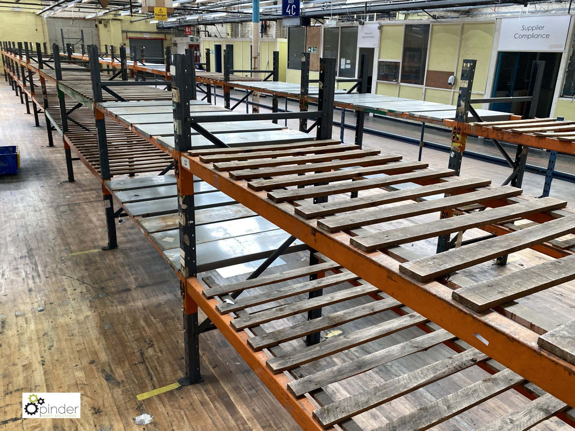 12 bays Dexion Speedlock boltless Racking, comprising 13 uprights 1835mm x 910mm, 48 beams varying - Image 4 of 5