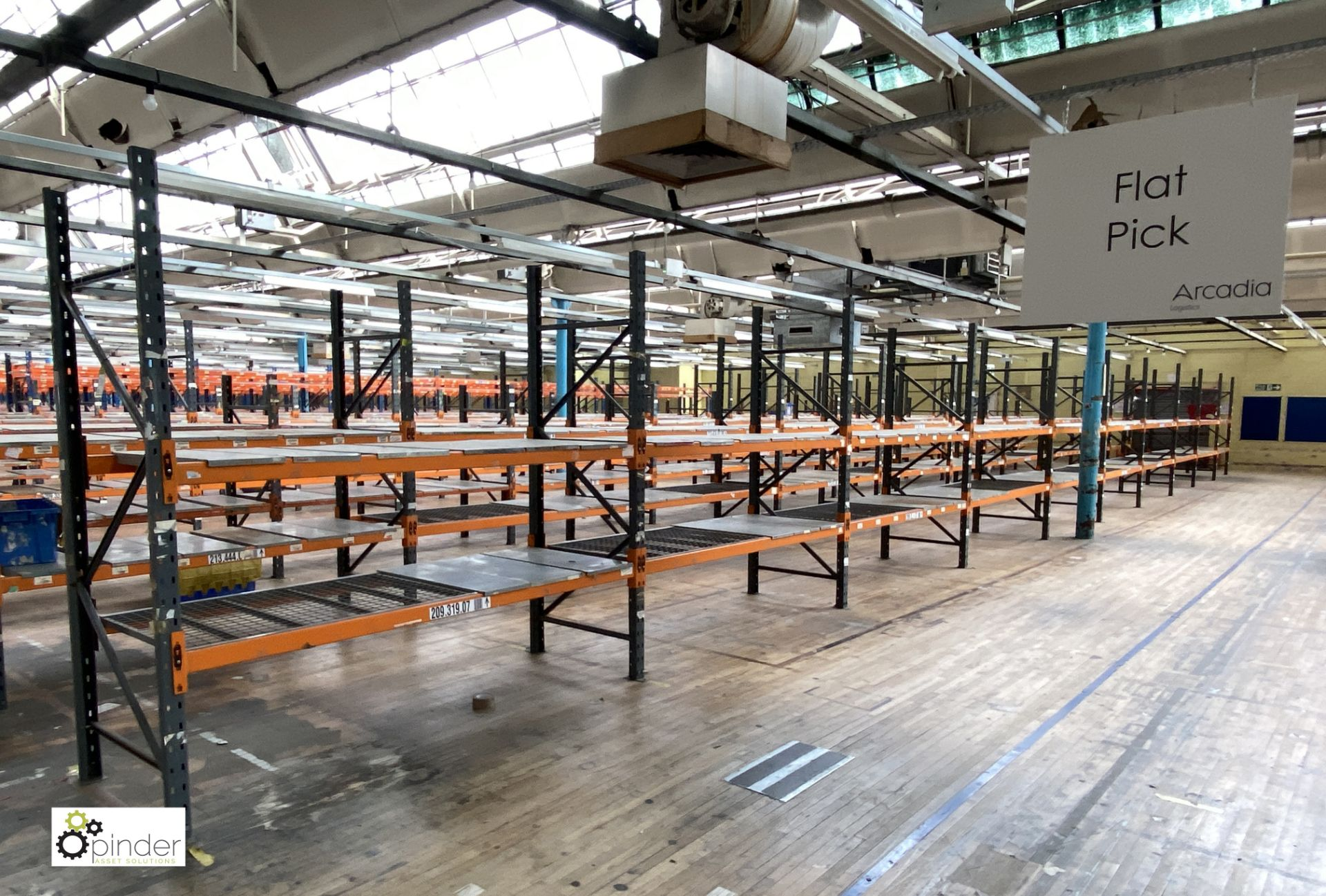 10 bays Dexion Speedlock boltless Racking, comprising 11 uprights 2440mm x 910mm, 40 beams 2450mm, - Image 2 of 4