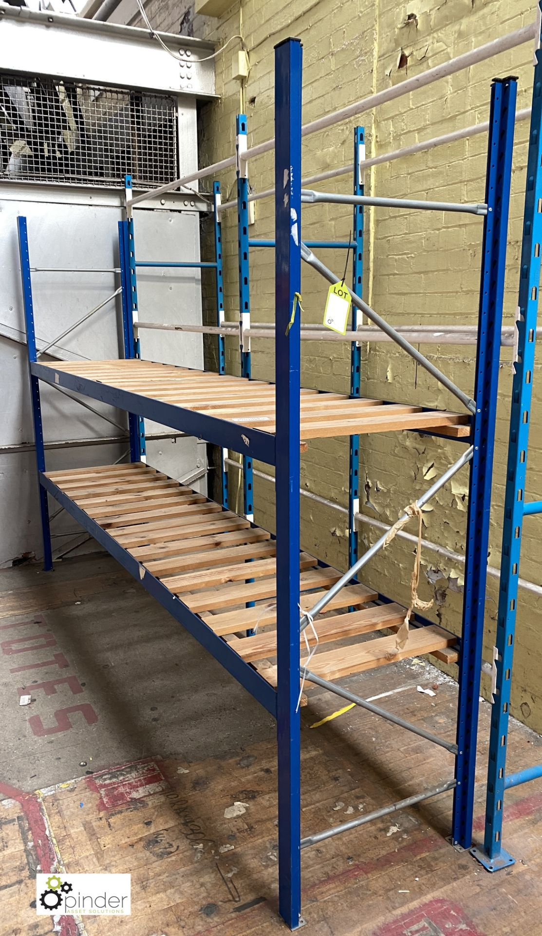 7 bays boltless Racking comprising 9 uprights 2100mm x 620mm, 28 beams 2935mm, 14 timber steel - Image 5 of 5