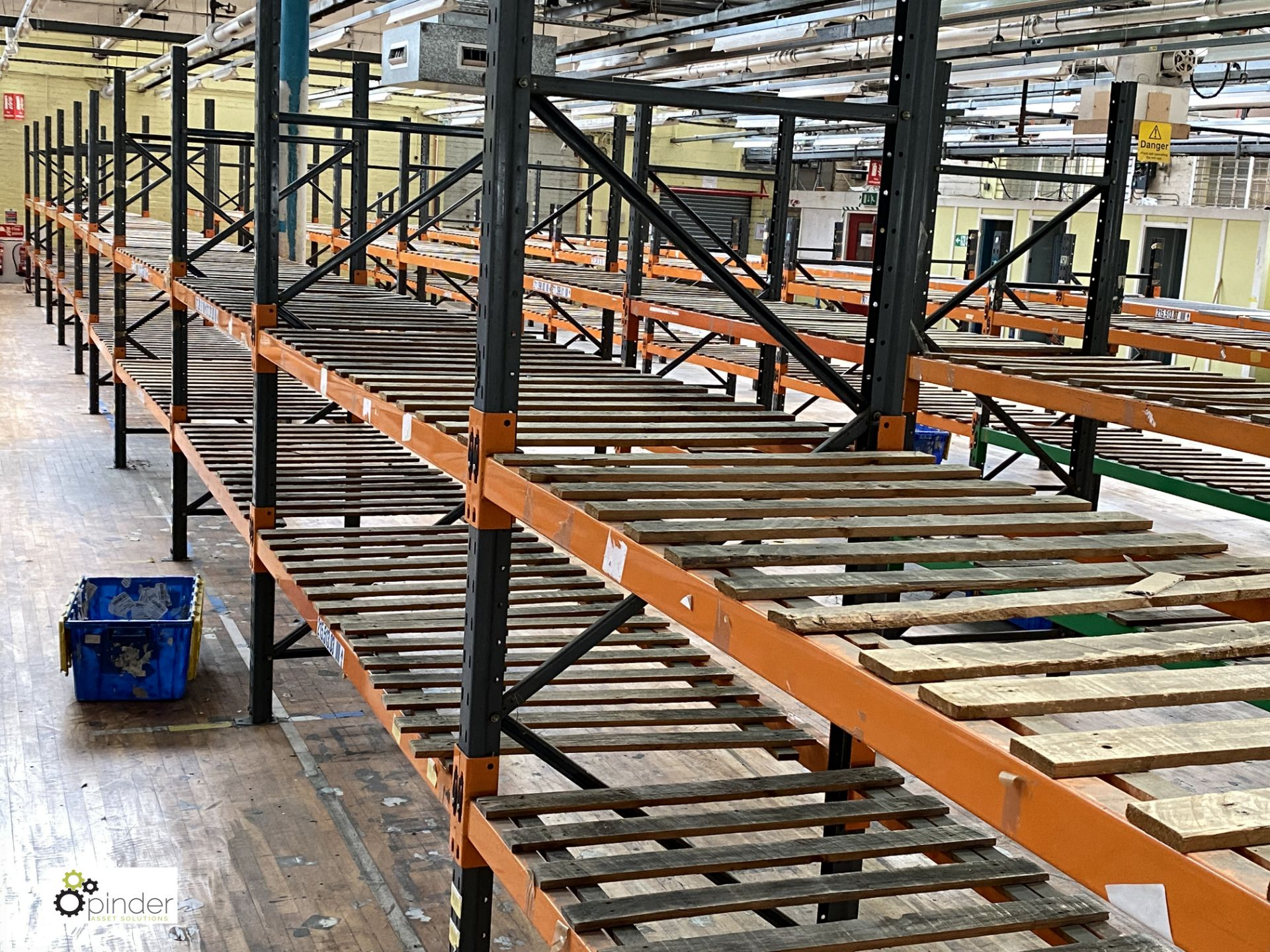 12 bays Dexion Speedlock boltless Racking, comprising 12 uprights 2440mm x 910mm, 1 upright 1835mm x - Image 4 of 5