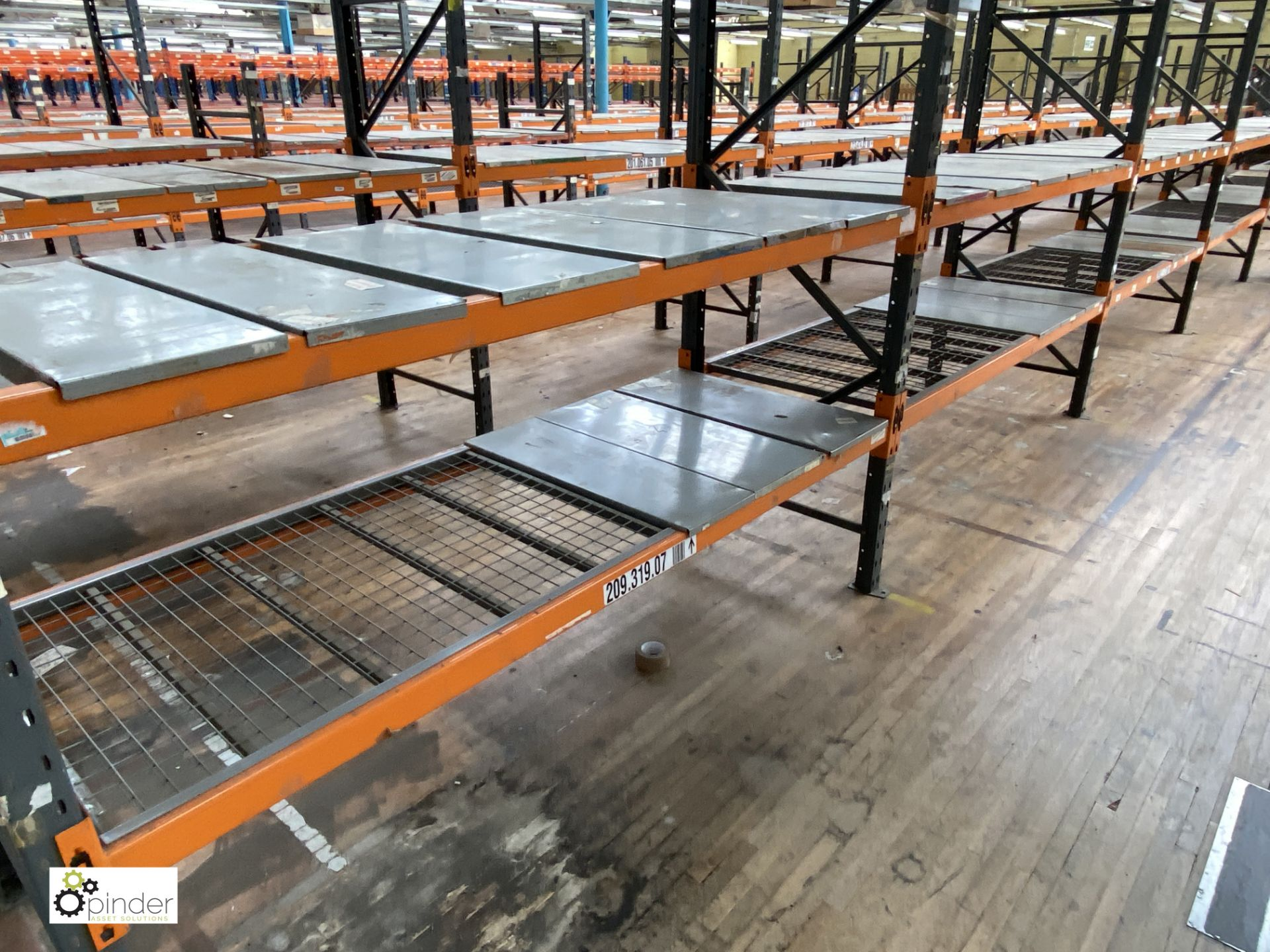 10 bays Dexion Speedlock boltless Racking, comprising 11 uprights 2440mm x 910mm, 40 beams 2450mm, - Image 3 of 4