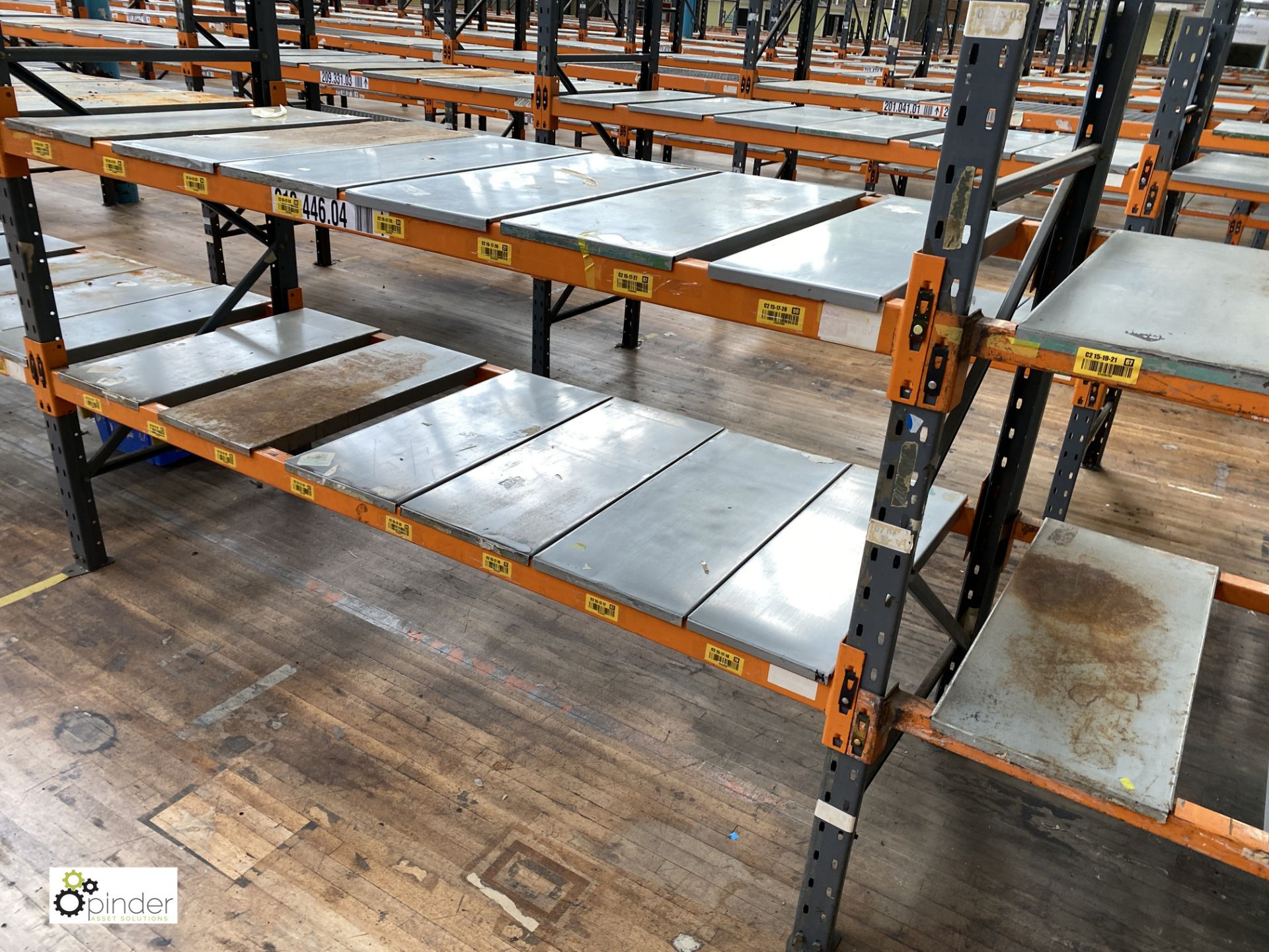 10 bays Dexion Speedlock boltless Racking comprising 11 uprights 1835mm x 910mm, 40 beams 2450mm, - Image 3 of 4