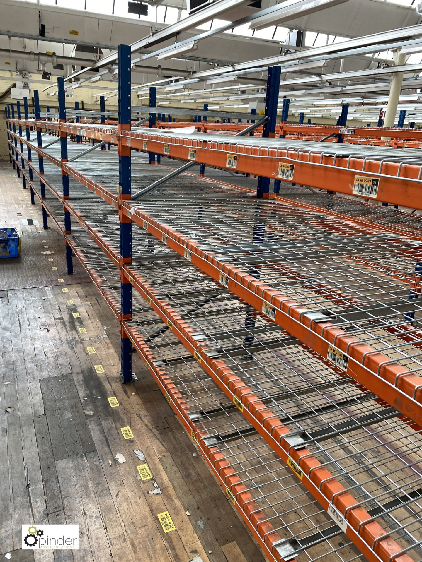 8 bays PSS 2K85 16 boltless Stock Racking, comprising 9 uprights 2400mm x 1200mm, 64 beams 2700mm, - Image 2 of 5