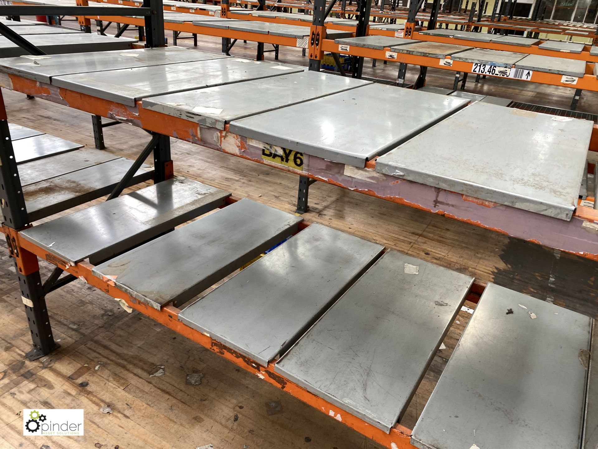 10 bays Dexion Speedlock boltless Racking, comprising 11 uprights 1835mm x 910mm, 40 beams 2450mm, - Image 5 of 5