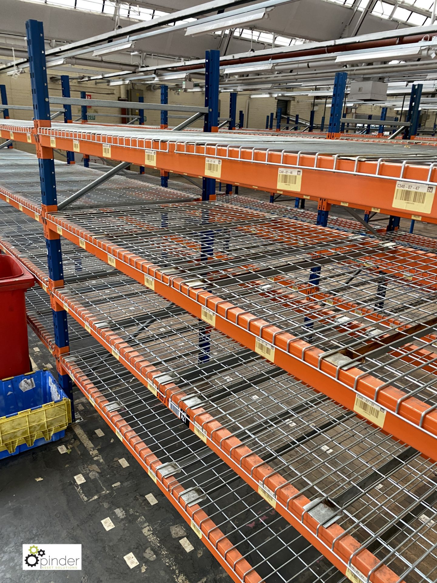 4 bays PSS 2K85 16 boltless Stock Racking, comprising 5 uprights 2400mm x 1200mm, 32 beams 2700mm, - Image 2 of 4