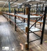 10 bays Dexion Speedlock boltless Racking, comprising 4 uprights 2440mm x 910mm, 7 uprights 1835mm x