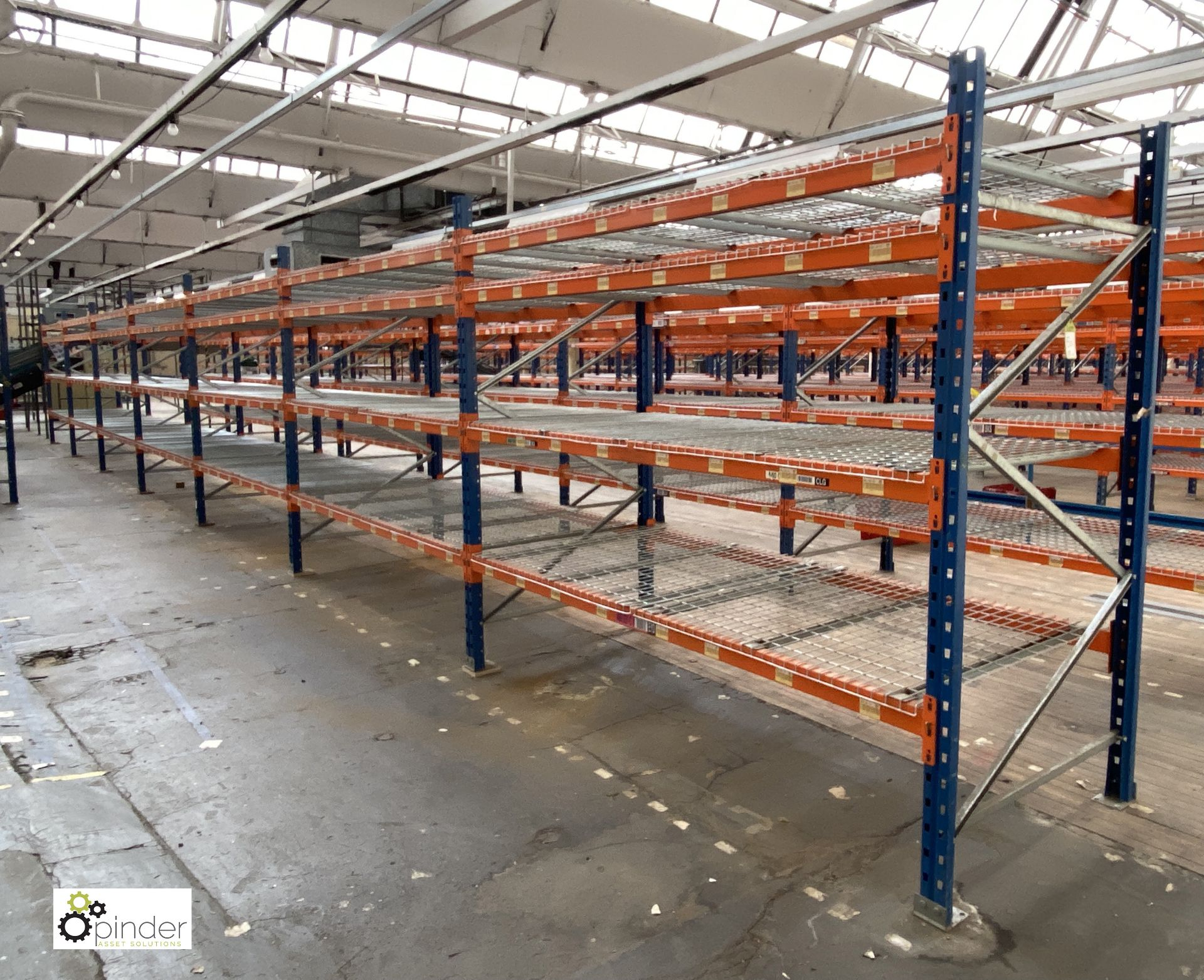 7 bays PSS 2K85 16 boltless Stock Racking, comprising 8 uprights 2400mm x 1200mm, 56 beams 2700mm, - Image 2 of 5