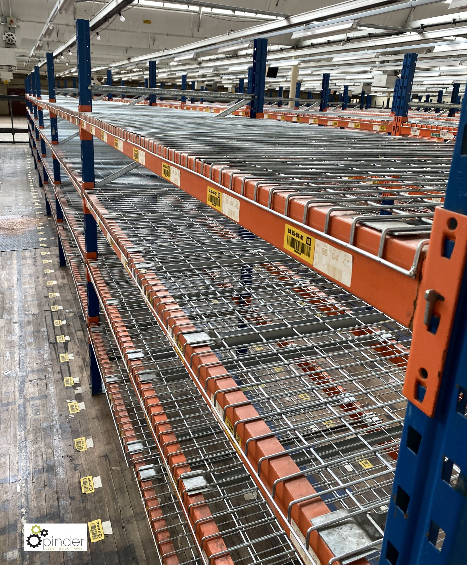 7 bays PSS 2K85 16 boltless Stock Racking, comprising 8 uprights 2400mm x 1200mm, 56 beams 2700mm, - Image 2 of 4