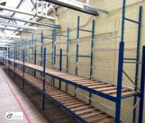 11 bays boltless Garment Hanging Racking, comprising 12 uprights 3050mm x 610mm, 55 tubular rails