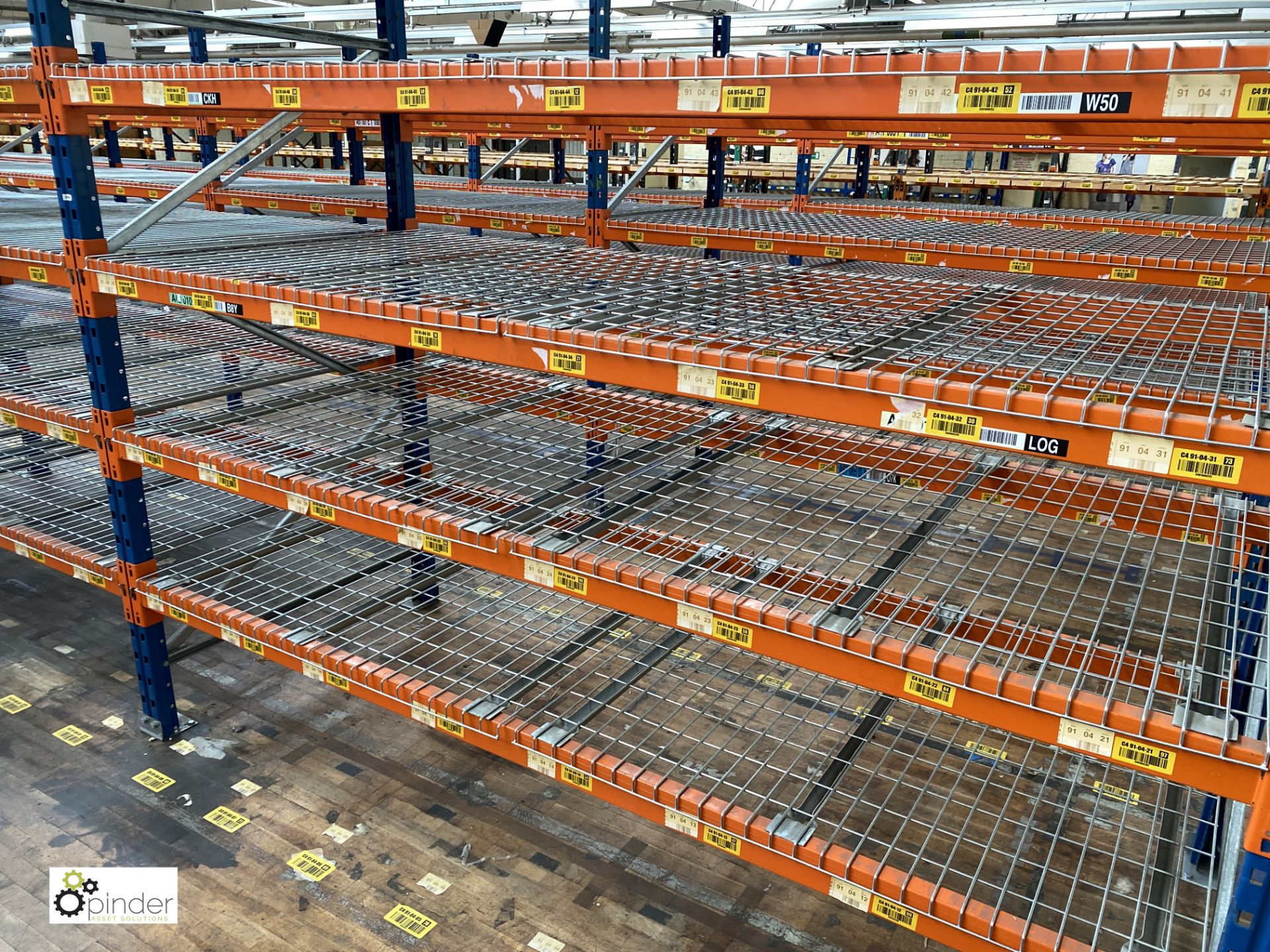 7 bays PSS 2K85 16 boltless Stock Racking, comprising 8 uprights 2400mm x 1200mm, 56 beams 2700mm, - Image 4 of 5