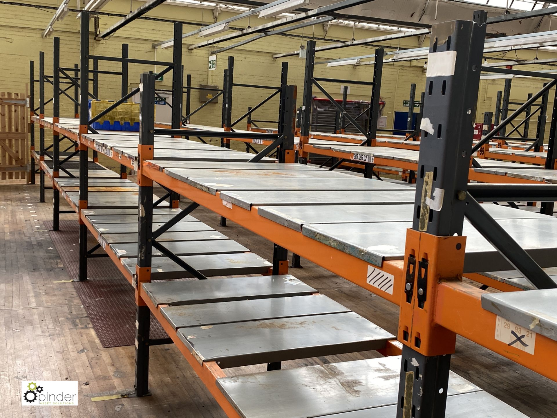 10 bays Dexion Speedlock boltless Racking, comprising 4 uprights 2440mm x 910mm, 7 uprights 1835mm x - Image 3 of 3