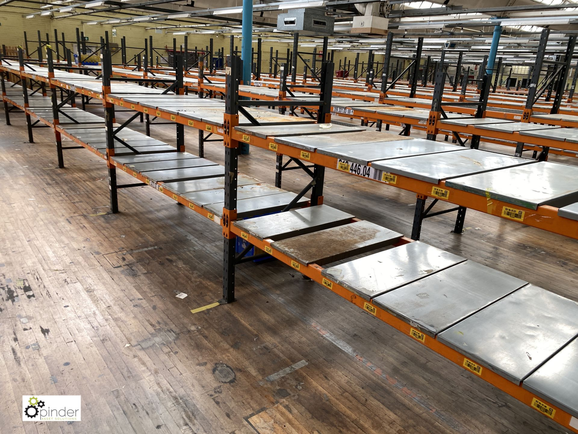 10 bays Dexion Speedlock boltless Racking comprising 11 uprights 1835mm x 910mm, 40 beams 2450mm, - Image 4 of 4
