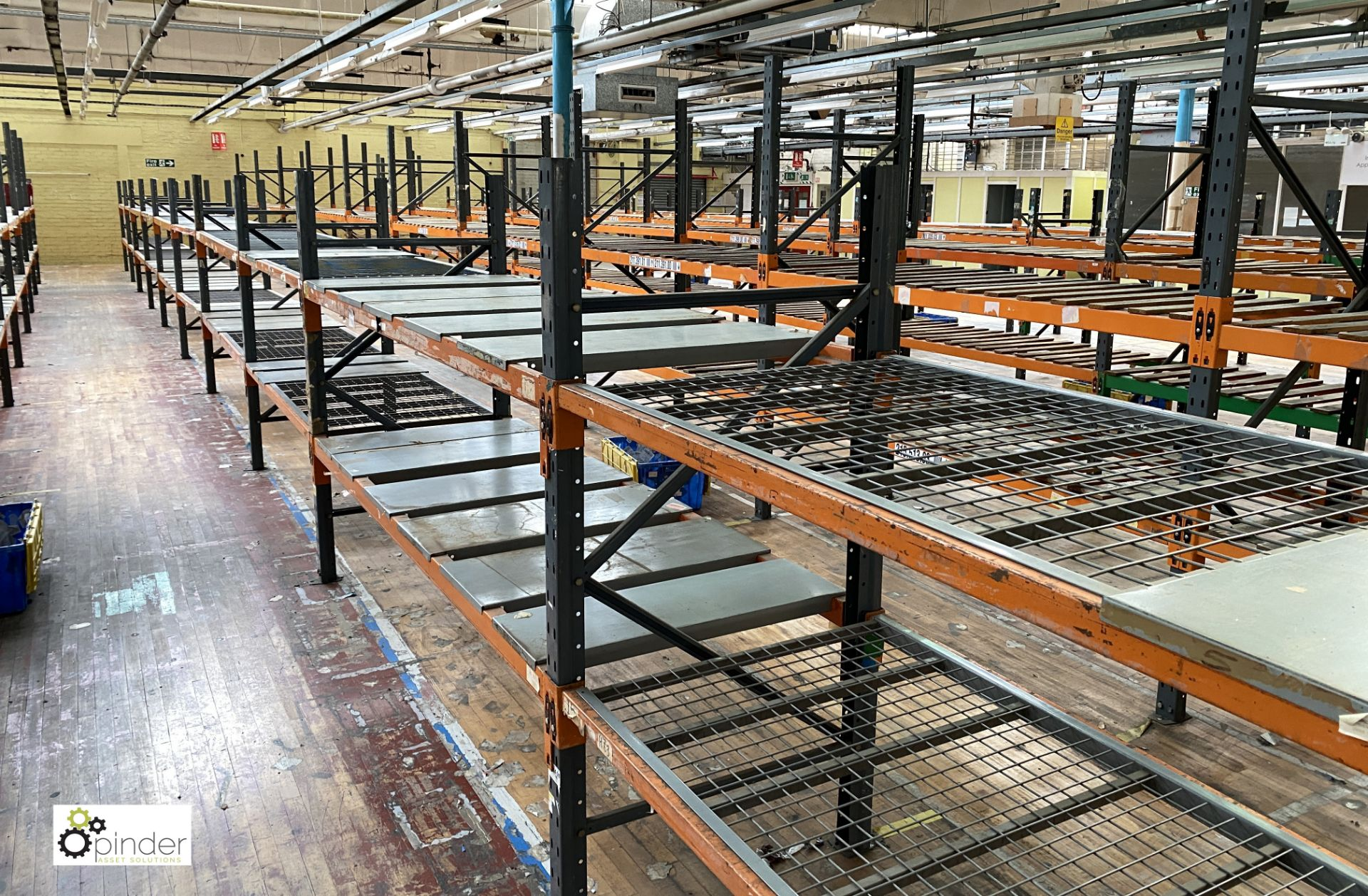 12 bays Dexion Speedlock boltless Racking, comprising 12 uprights 1835mm x 910mm, 1 upright 2440mm x - Image 3 of 4