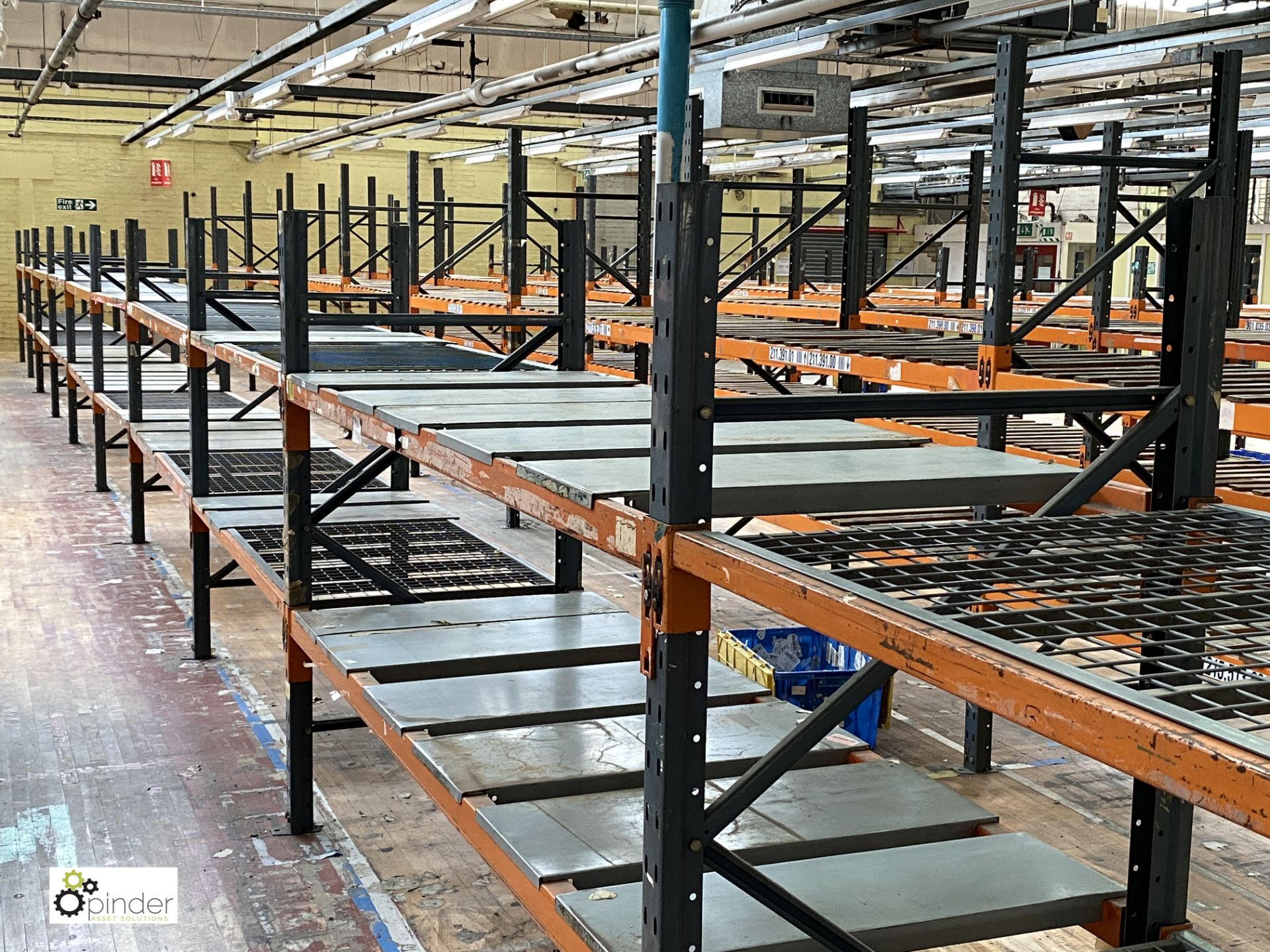 12 bays Dexion Speedlock boltless Racking, comprising 12 uprights 1835mm x 910mm, 1 upright 2440mm x - Image 4 of 4