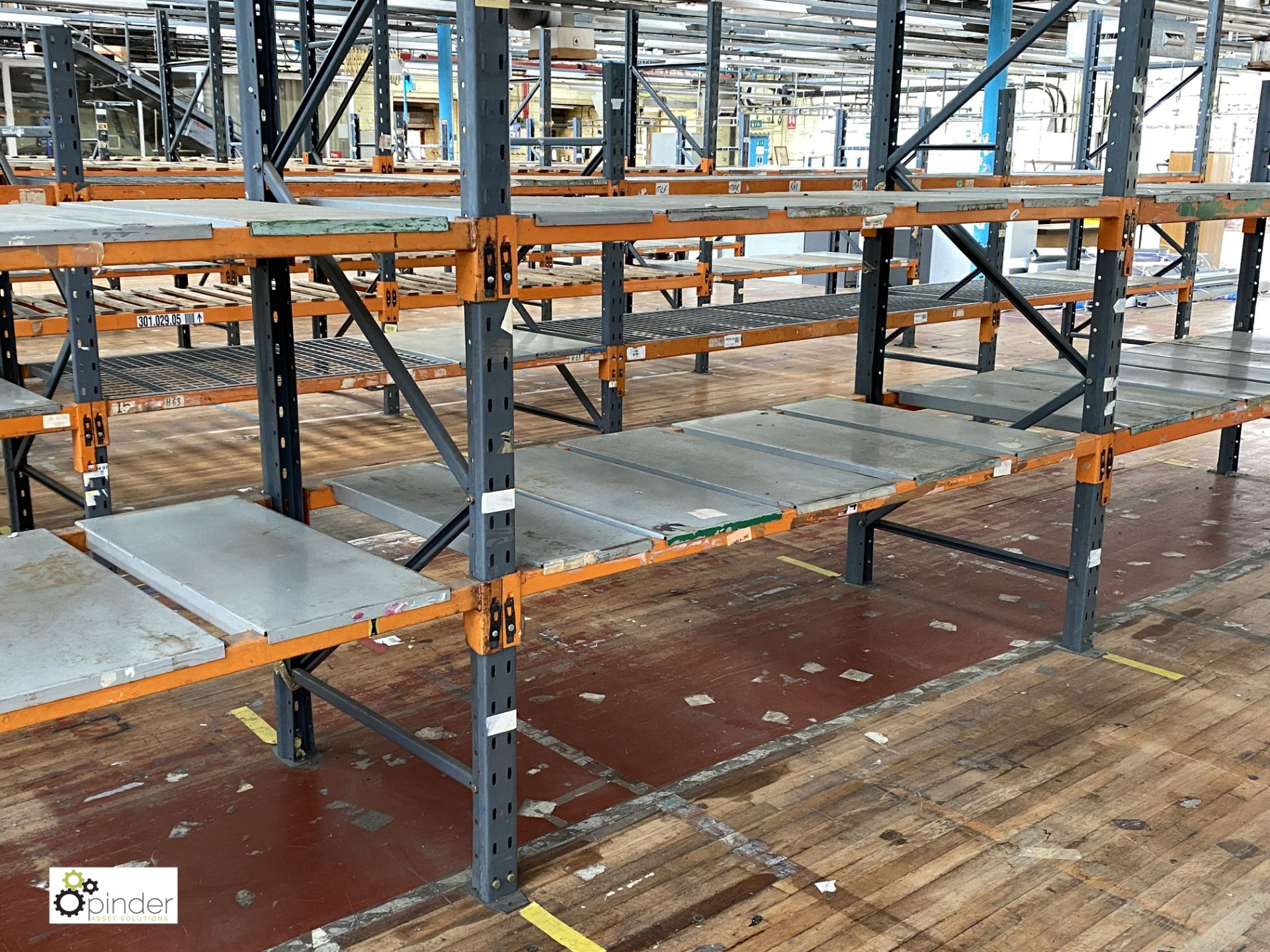 11 bays Dexion Speedlock boltless Racking, comprising 9 uprights 2440mm x 910mm, 3 uprights 1835mm x - Image 4 of 5