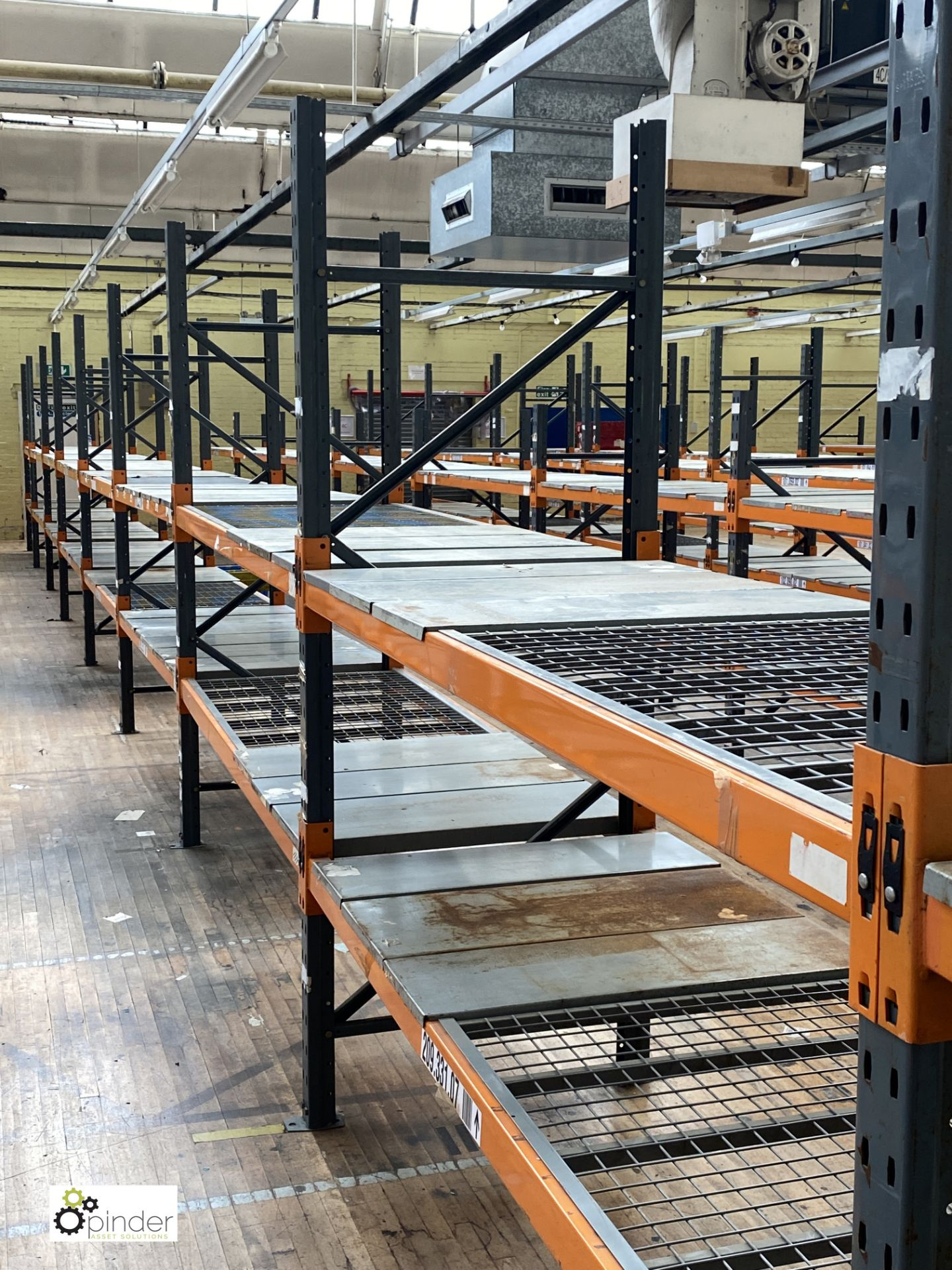 10 bays Dexion Speedlock boltless Racking, comprising 11 uprights 2440mm x 910mm, 40 beams 2450mm, - Image 4 of 4