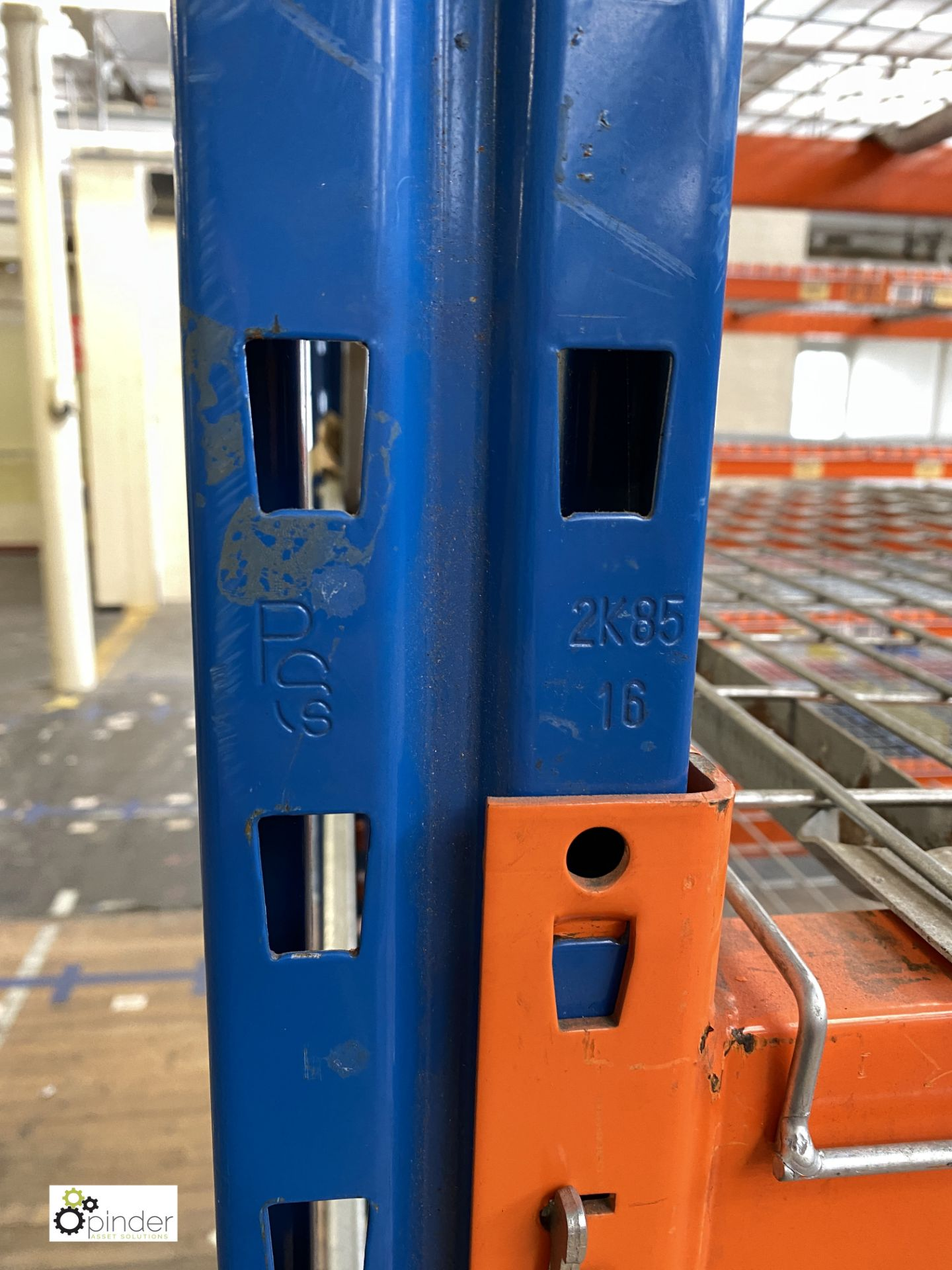 4 bays PSS 2K85 16 boltless Stock Racking, comprising 5 uprights 2400mm x 1200mm, 32 beams 2700mm, - Image 5 of 5