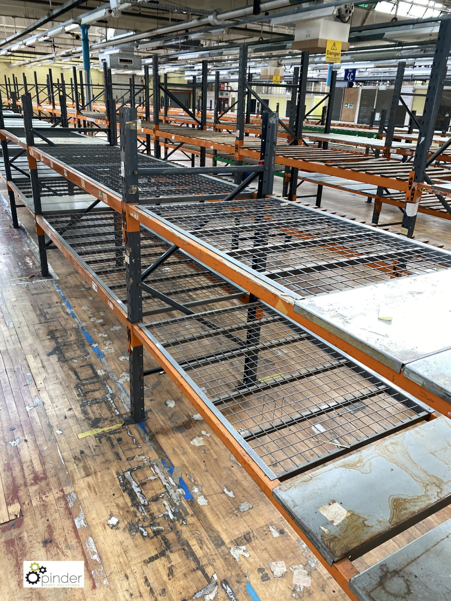 12 bays Dexion Speedlock boltless Racking, comprising 12 uprights 1835mm x 910mm, 1 upright 2440mm x - Image 2 of 4